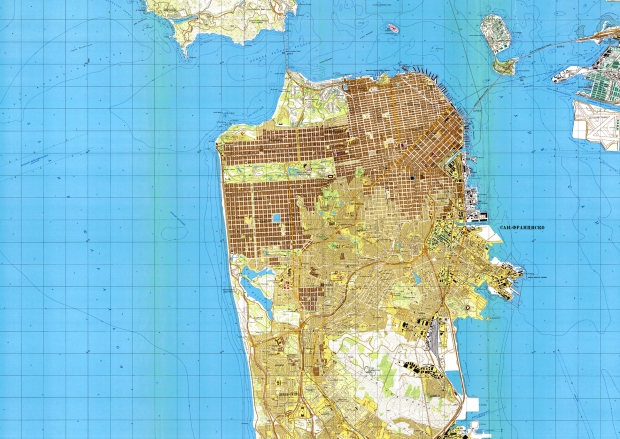 Soviet map of San Francisco circa 1980