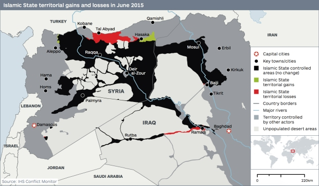 Recent territorial shifts in Syria and Iraq, via Foreign Policy